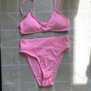 NWT Pink High Waist Bikini